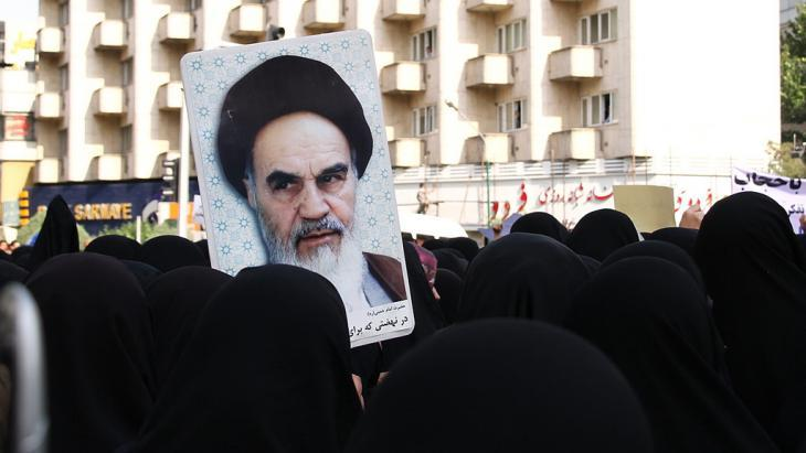 Supporters of Mahmoud Ahmadinejad demonstrating in Tehran for tighter enforcement of dress codes for women (photo: Tabnak)