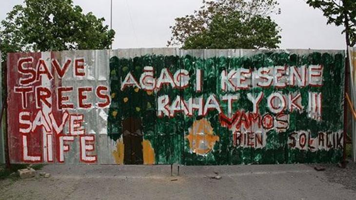 Graffiti in Gezi Park, Istanbul. Photo: Ali Yildirim