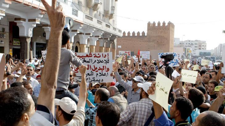 The 20 February movement protesting in Rabat (photo: AP)