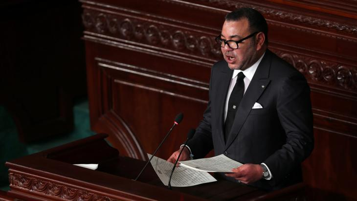 King Mohammed VI addressing the Constituent Assembly in Tunis, Tunisia, 31 May 2014 (photo: picture-alliance/dpa)
