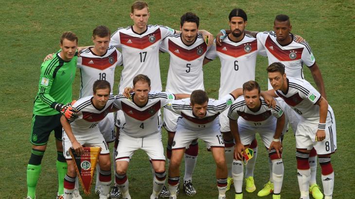 Gruppenfotos deutsches Team vor dem Ghana-Spiel der FIFA-WM-Gruppe G