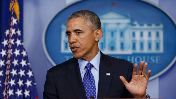 US President Obama during a press conference on the situation in Iraq. Photo: Reuters