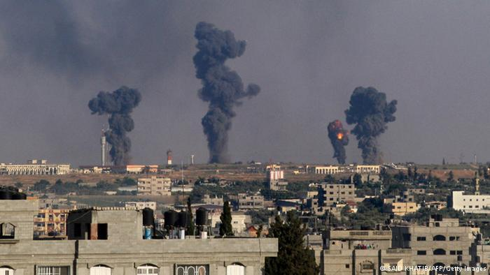Israeli airstrike on Gaza International Airport in Rafah, southern Gaza, July 7, 2014. Photo: Said Khatib/AFP/Getty Images