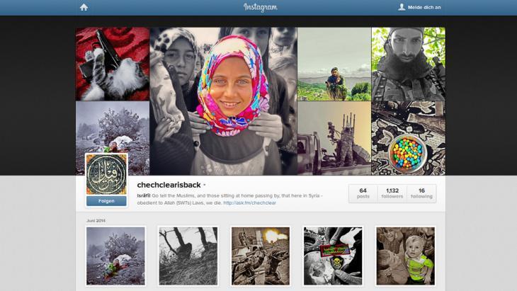 Instagram screenshot: ISIS