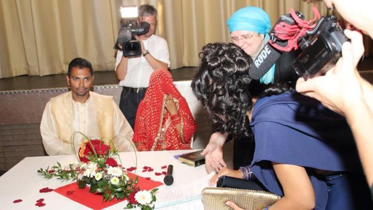 An Islamic wedding between a Muslim woman and a Christian man (photo: Ulrike Hummel)