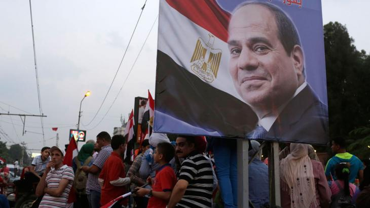 Supporters of Egyptian President Abdul Fattah al-Sisi in Cairo (photo: Reuters)
