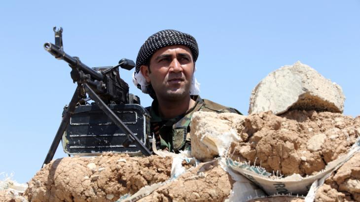 A Peshmerga fighter near Mosul (photo: Ahmad Al-Rubaye/AFP/Getty Images)