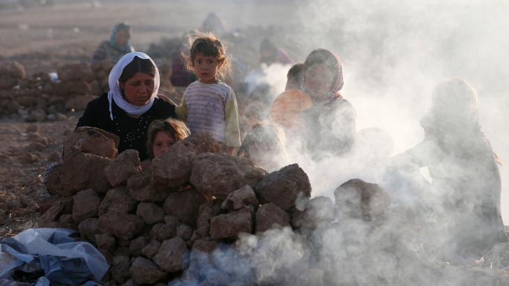 Yazidi refugees in the Sinjar Mountains (photo: Reuters)