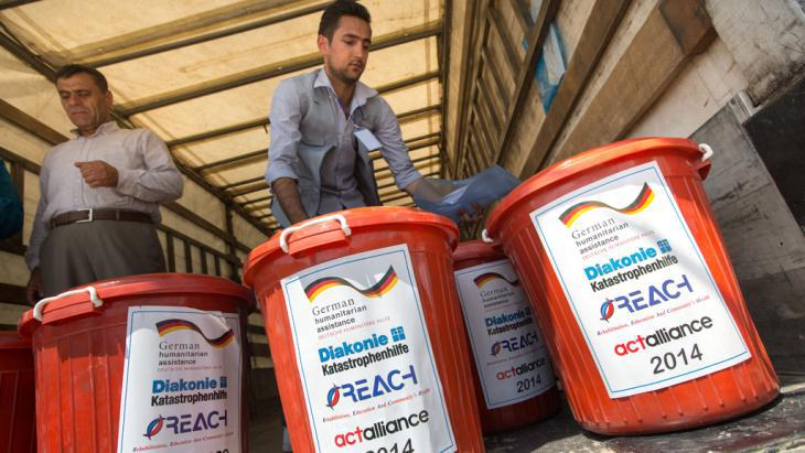 German humanitarian aid in Erbil (photo: picture-alliance/dpa)