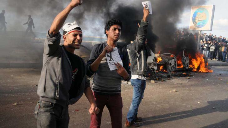 Activists in Alexandria demonstrating against the referendum on the Egyptian constitution in December 2012 (photo: AFP/Getty Images)