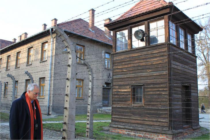 Professor Mohammed Dajani-Daoudi during his visit to Auschwitz (photo: private)