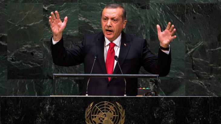President Erdogan addresses the UN General Assembly (Ruters/Lucas Jackson)