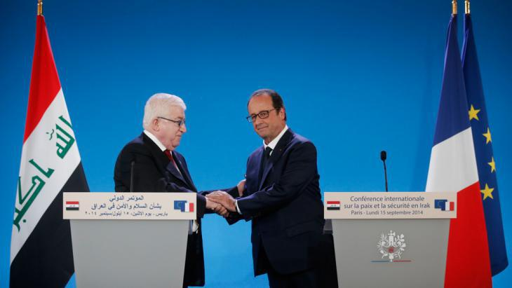 Iraqi President Fouad Massoum and French President Francois Hollande (photo: Reuters/Christian Hartmann)