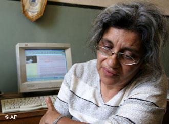 Leila Soueif, Ahmed Seif al-Islam's widow (photo: AP)