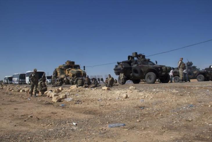 Turkish military checkpoint at the entrance of Yumurtalik (photo: Kiran Nazish)