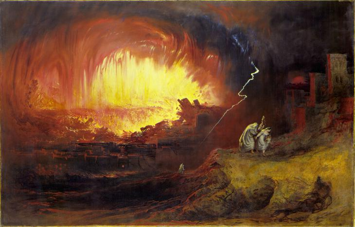"""The Destruction of Sodom and Gomorrah"" by John Martins, 1789–1854 (source: Wikimedia Commons)"