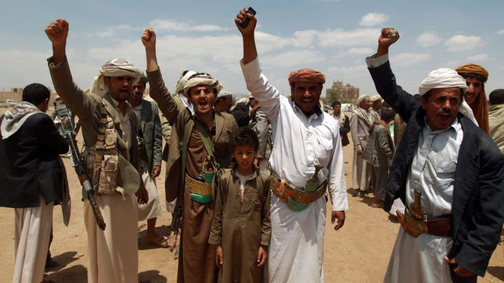Yemeni supporters of the Shia Houthi movement on 4 September 2014 in Sanaa (photo: AFP/Getty Images/M. Huwais)