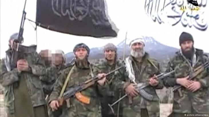 A still from a propaganda video made by German Islamists (source: picture-alliance/dpa)