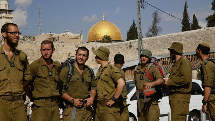 Temple Mount cordoned off by Israeli security forces (photo: GALI TIBBON/AFP/Getty Images)