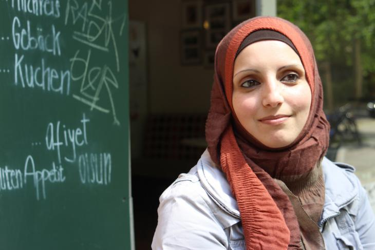 Heba Tebakhi from Hebron, who now lives in Berlin (photo: Susanne Kaiser)