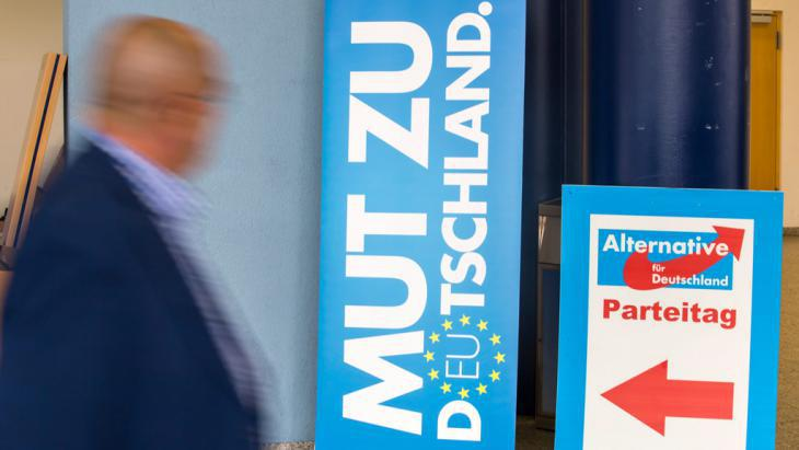 Election posters for the Alternative for Germany (AfD) party in the city of Erfurt (photo: picture-alliance/dpa)