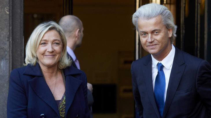 Marine Le Pen and Geert Wilders (photo; picture-alliance/dpa)