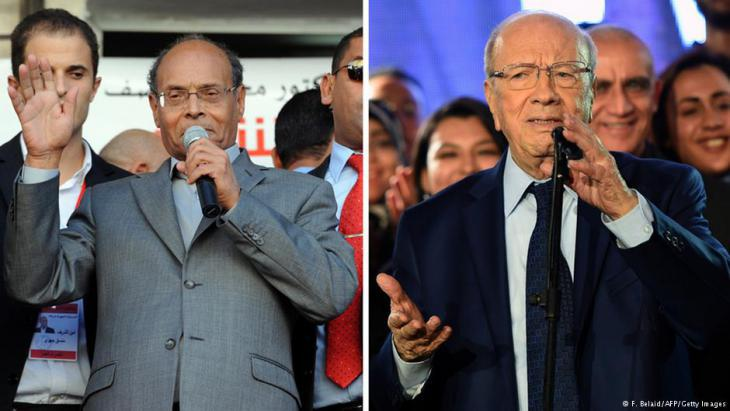 Moncef Marzouki (left) and Beji Caid Essebsi (photo: F. Belaid/AFP/Getty Images)