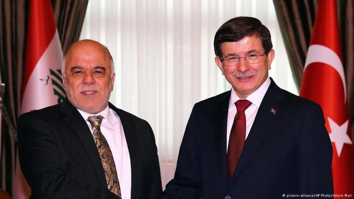 Iraqi PM Haider al-Abadi and Turkish PM Ahmet Davutoglu, Ankara, 25 December 2014 (photo: picture-alliance/AP Photo/Arturo Mari)