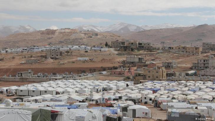 Refugee tents in Arsal, Lebanon (photo: Juliane Metzker)