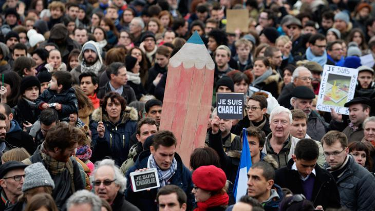Rally in London in memory of the victims of the Paris attack (photo: picture-alliance/dpa/Arrzabalaga)