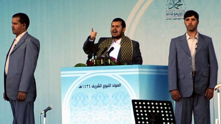 Abdel Malek El-Houthi, leader of the Houthi rebels (photo: picture-alliance/Y. Arhab)