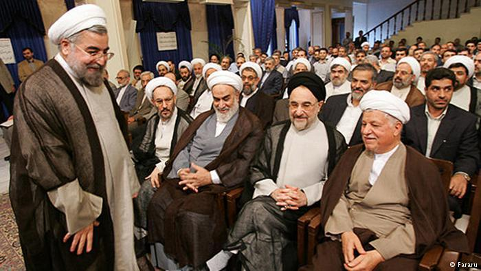 Former Iranian Presidents Mohammad Khatami and Ali Akbar Hashemi Rafsanjani and other high-ranking dignitaries (photo: Fararu)