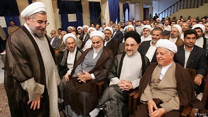 Former Iranian Presidents Mohammad Khatami and Ali Akbar Hashemi Rafsanjani and other high-ranking dignitaries (photo: Fararu)
