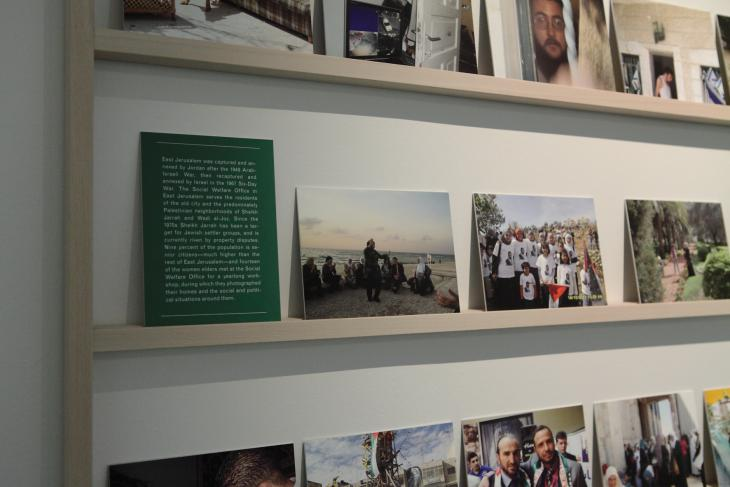 Detail of the presentation of the photos of Wendy Ewald (photo: Felix Koltermann)