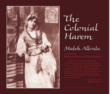 """Cover of Malek Alloula's """"The Colonial Harem"""""""