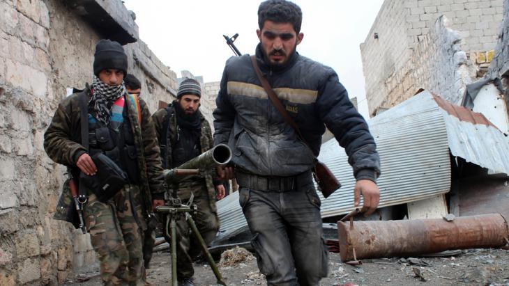 FSA fighters in Aleppo (photo: Salah Al-Ashkar/FP/Getty Images)