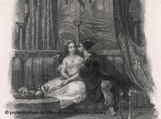"""Scheherazade und der Sultan aus """"Tausendundeiner Nacht"""", Foto: picture-alliance/Mary Evans Picture Library"""