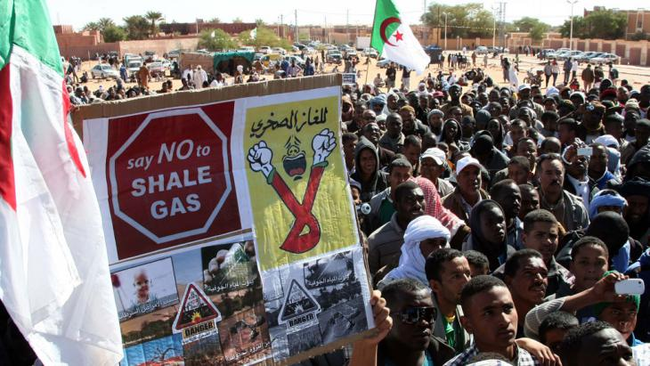 Protests against fracking in Ain Salah (photo: Billal Bensalem/ABACAPRESS.COM)