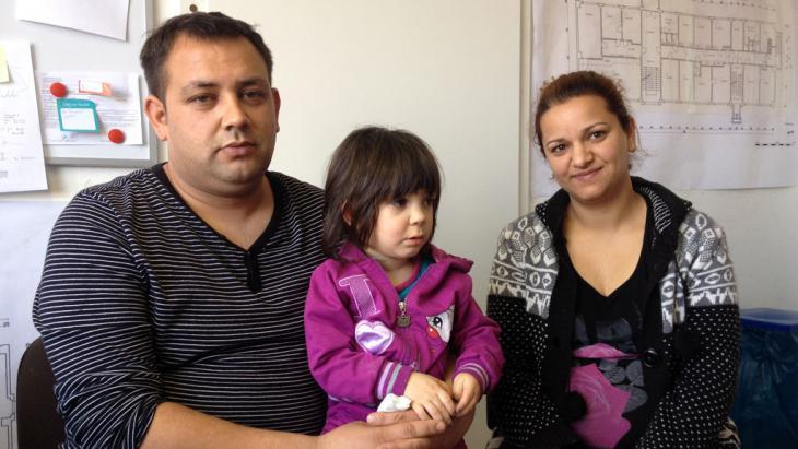 Asylbewerber, Roma-Familie aus Serbien, in einer Erstaufnahmeeinrichtung in Meißen; Foto: DW/S. Wassermann