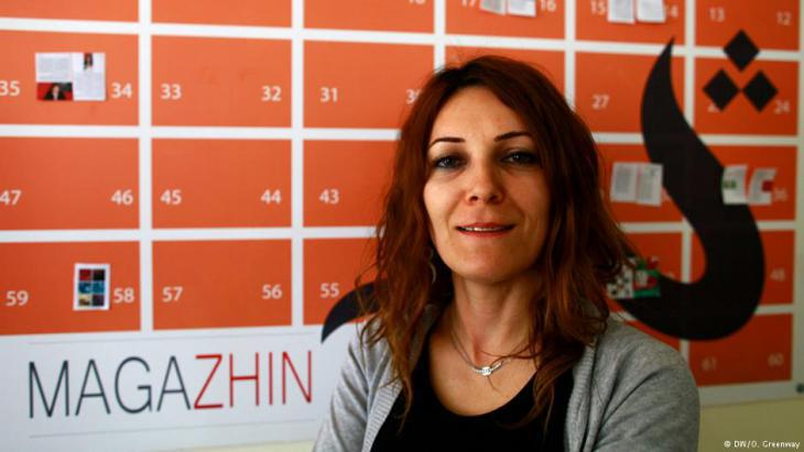 "Koral Noori, editor at ""Zhin"" magazine (photo: DW/O. Greenway)"