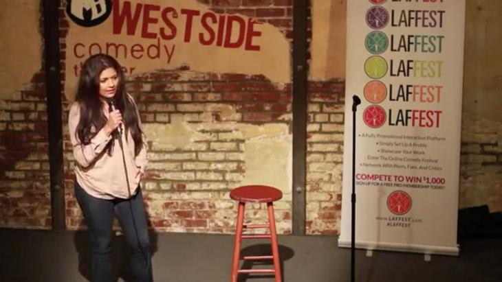 Mona Shaikh performing at the Westside Comedy Theater (photo: Westside Comedy Theater)