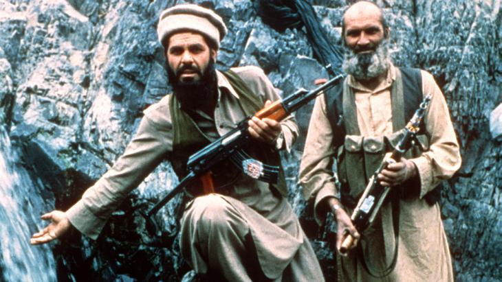 Mujahideen in the mountains of Afghanistan in 1985 (photo: picture-alliance/dpa)
