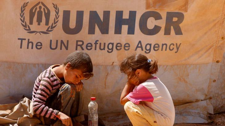 Syrian child refugees in Jordan (photo: picture-alliance/dpa)