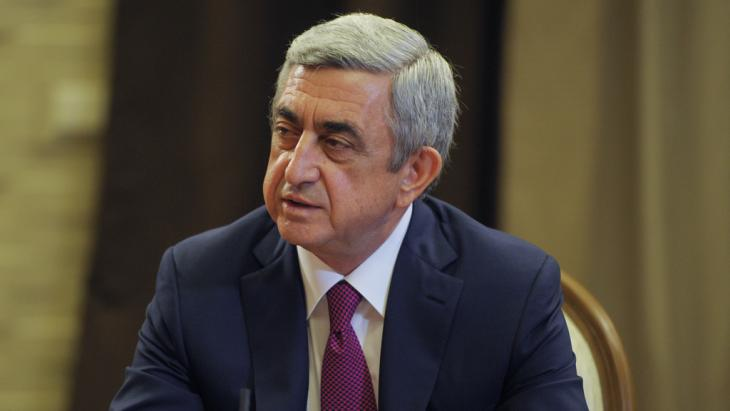 Armenian President Serzh Sargsyan in 2014 (photo: picture-alliance/dpa)