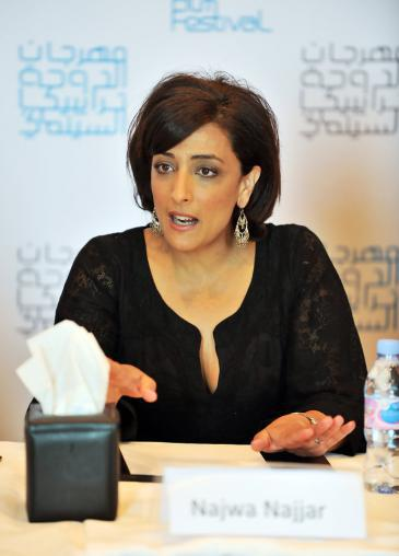 The Palestinian-Jordanian director Najwa Nijjar at the Doha Tribeca Film Festival in 2009 (photo: Doha Tribeca Film Festival)