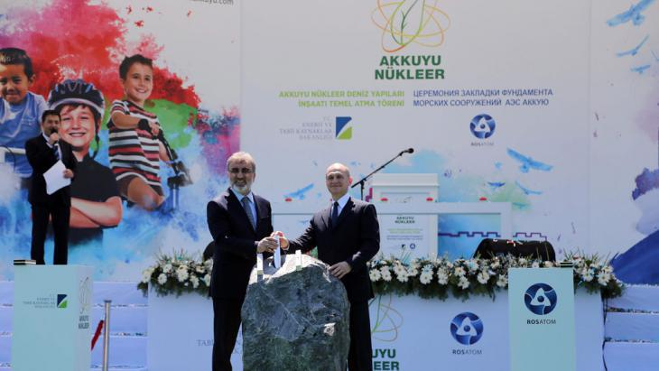 Launch of the first Turkish nuclear power plant, Akkuyu, in Mersin (photo: picture-alliance/dpa/Anil Bagriyanik/Anadolu Agency)