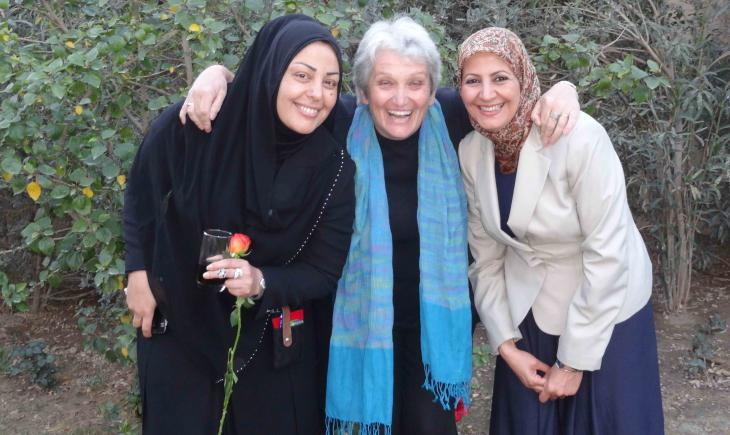 From left: Samarkand al-Jabiri, Birgit Svensson and Amal Ibrahim al-Nusairi (photo: Birgit Svensson)