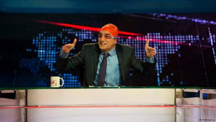 """Bassem Youssef hosting """"AlBernameg"""" (photo: AlBernameg)"""