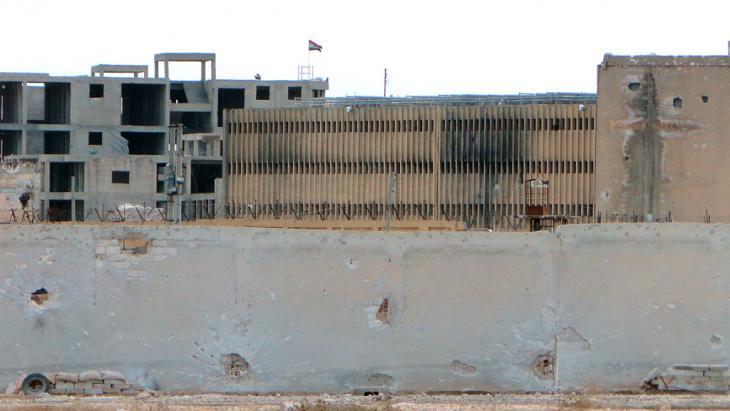 Aleppo central prison (photo: AFP/Getty Images/Z. Al Rifai)