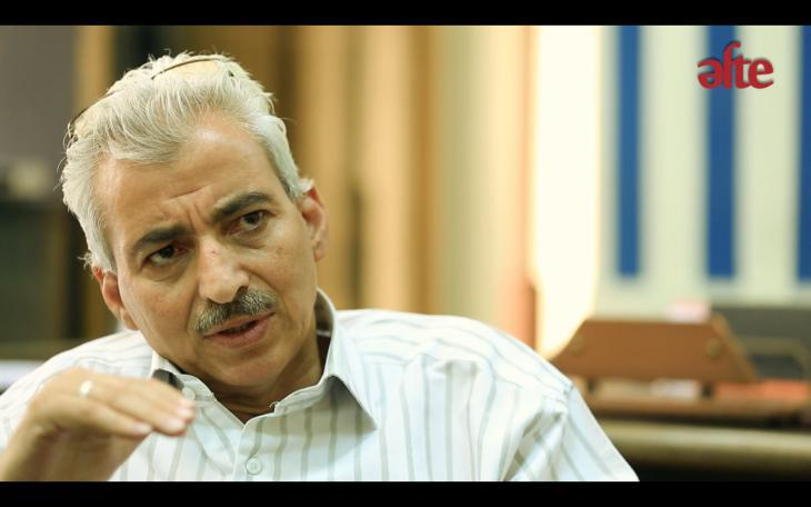 "Fathy Abdel Satar (photo: still from the film ""Authorised to be shown"" by AFTE)"